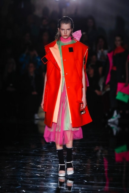 Valiant Poppy on the runway at Prada Fall 2018