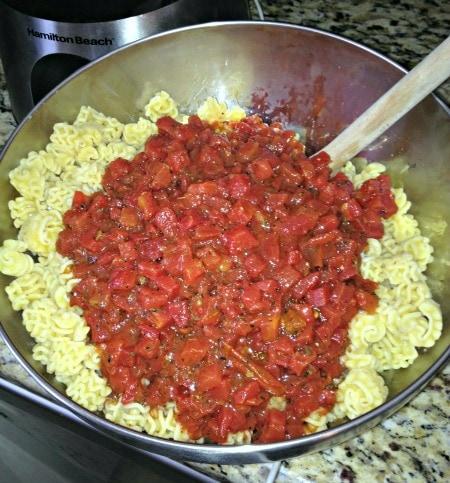 Pre mixed pasta