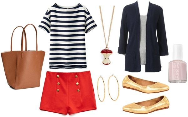 Preppy back to school outfit