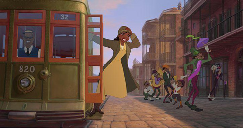 Princess Tiana in her work clothes from Disney's The Princess and the Frog