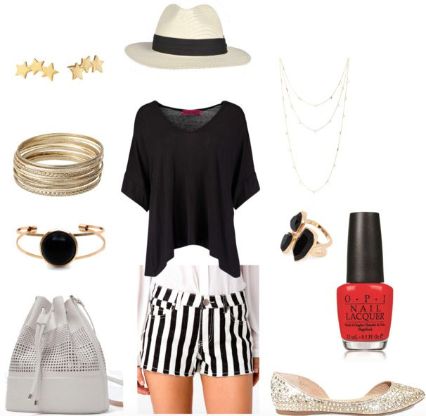 printed denim shorts class outfit