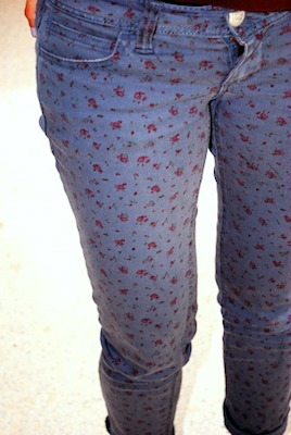 Printed jeans mount mary university fashion trend