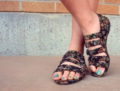 Printed sandals at cal poly san luis obispo