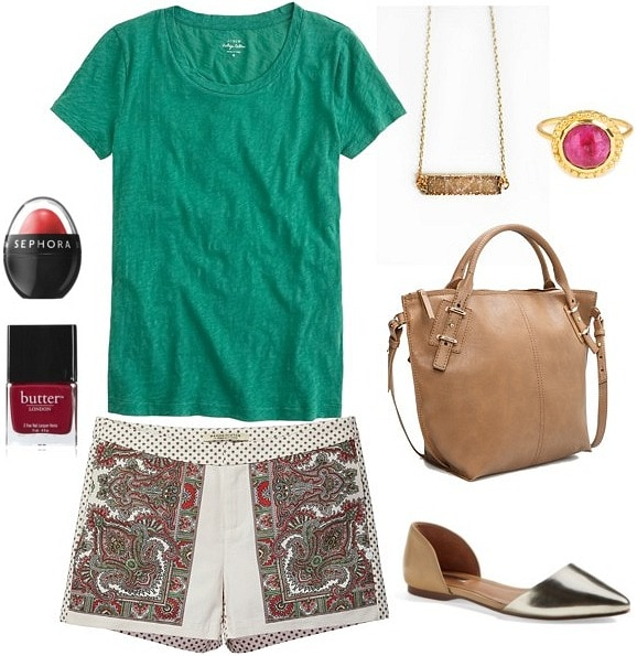 Printed shorts daytime outfit