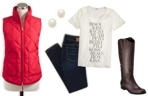 Puffer vest outfit 1