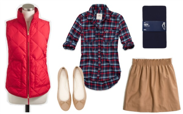 Puffer vest outfit 2