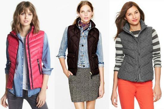 Winter puffer vests