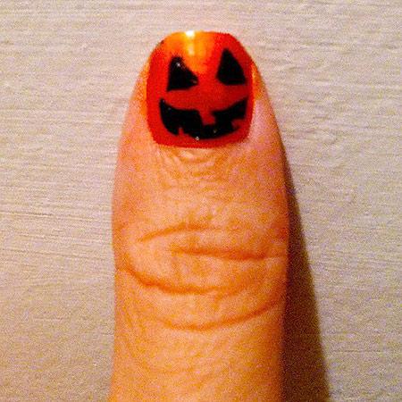 Jack-o-lantern nail