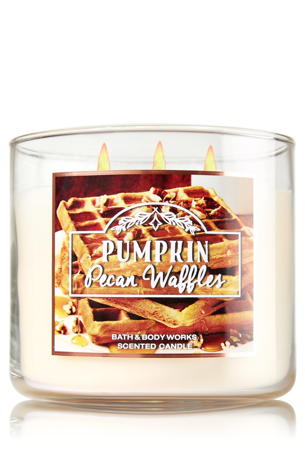 Pumpkin pecan waffles candle