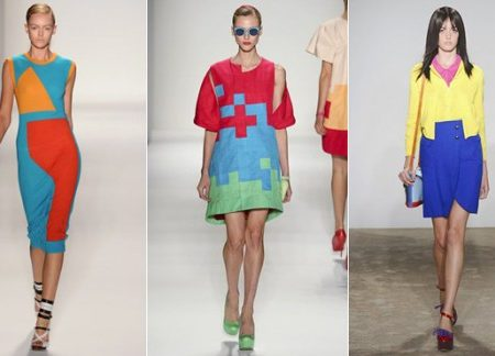 Colorful outfits on the Spring 2011 runways
