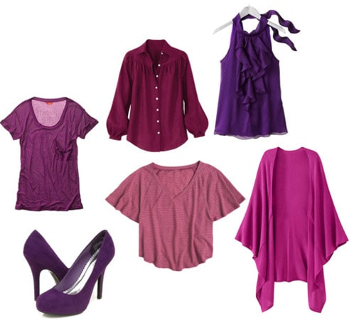 Purple clothing and accessories