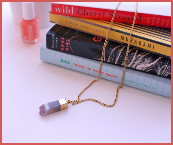 Purple-Lavendar-Crystal-Necklace-by-Stack-of-Books-and-Essie-Polish