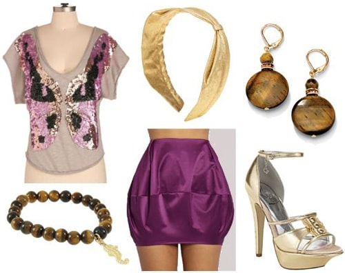 Purple skirt and top outfit inspired by Jasmine from Disney's Aladdin