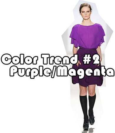 Fall 2010 color trend: Purple