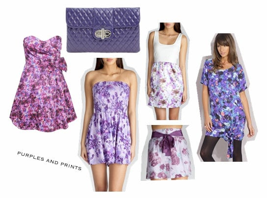 Purple looks inspired by Anna Sui Spring 2010