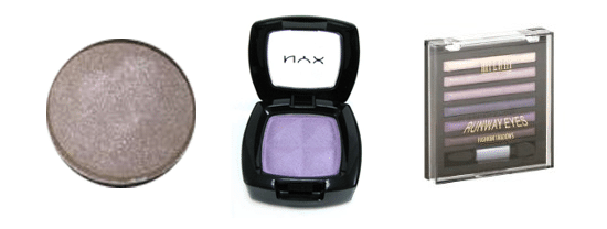 Purple eyeshadows