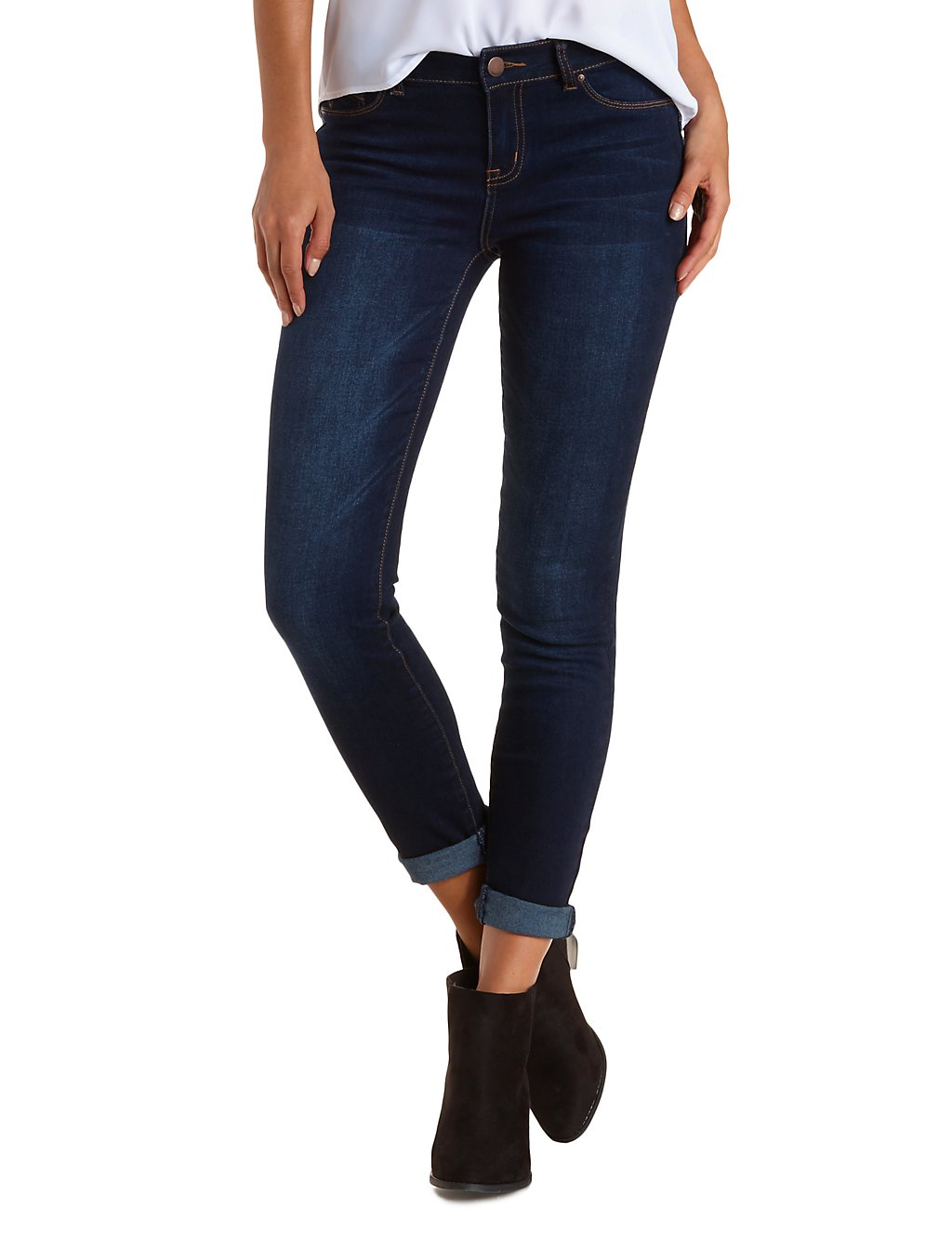 Charlotte Russe push up legging jeans