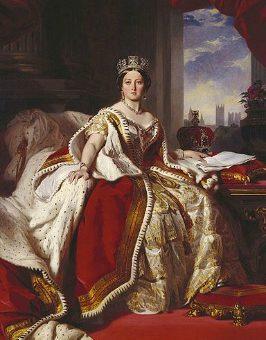 Queen victoria in her coronation robes