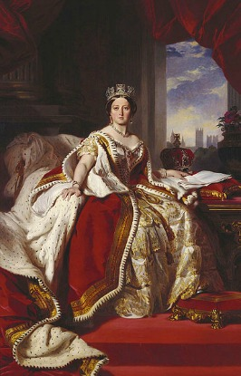 Queen victoria in her coronation robes