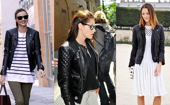 Quilted biker jackets trend