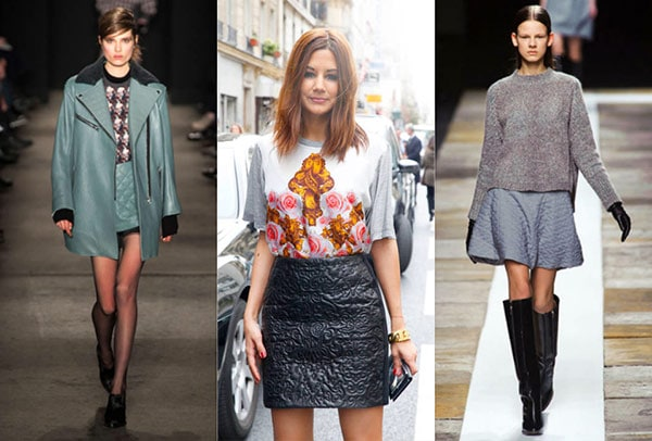 Quilted mini skirt trend