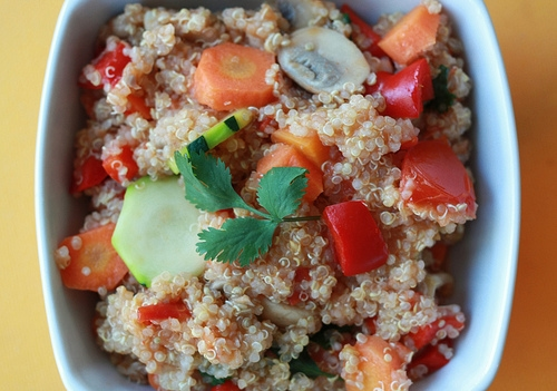 Quinoa and veggies