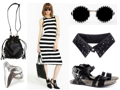 Quiz spring 2013 trend black & white stripe