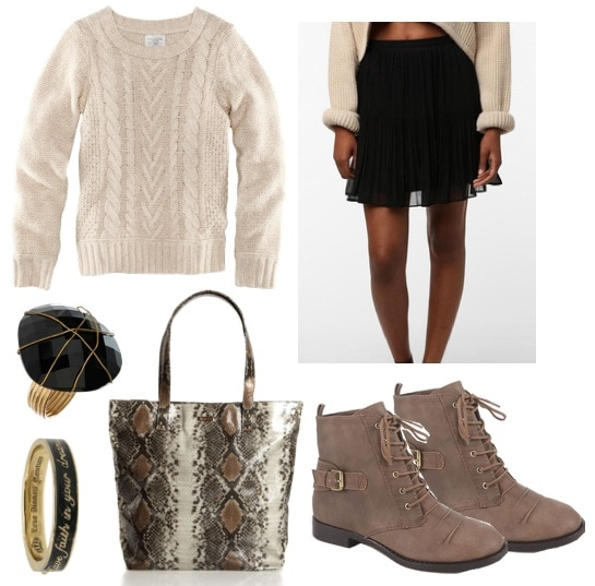 quiz-what fall 2011 trend should you try-chunky sweater-outfit