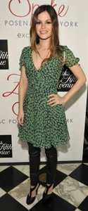 Rachel Bilson at the Z-Spoke launch wearing a dress over pants