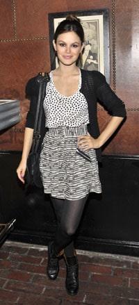 Rachel Bilson wearing mixed prints