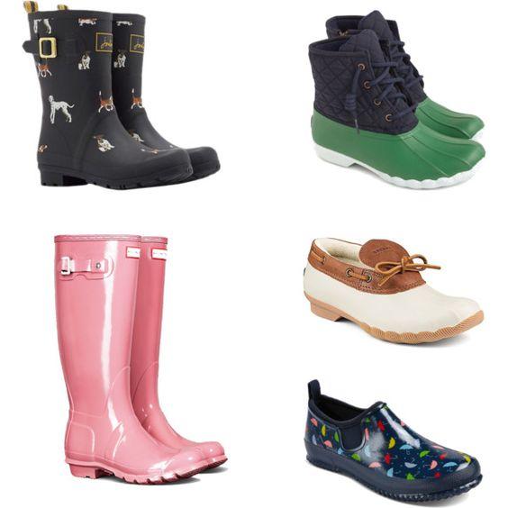 Rain Boots Polyvore Set