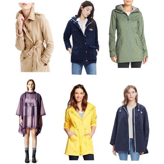 Rain Jacket Polyvore Set