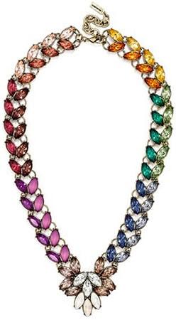 Rainbow statement necklace from Baublebar