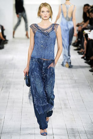 Ralph Lauren spring 2010 rtw evening denim