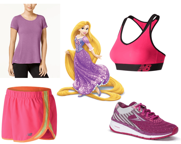 Rapunzel Workout Outfit