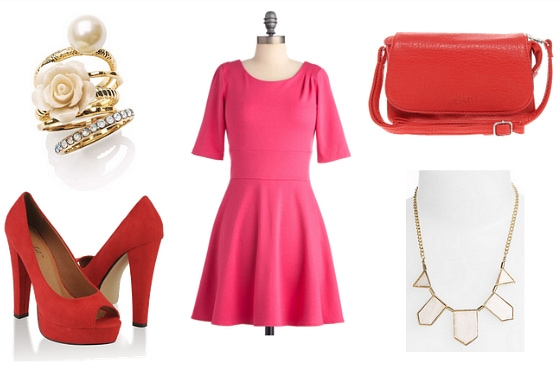 Red and Pink Outfit 3