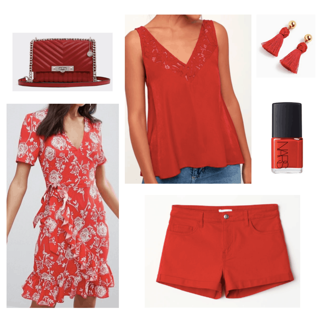 colors that go with red clothes