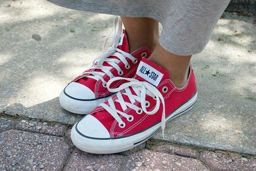 Red converse at umcp