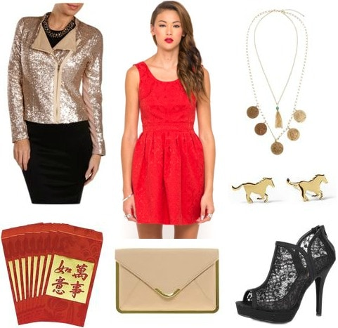 Red envelopes outfit