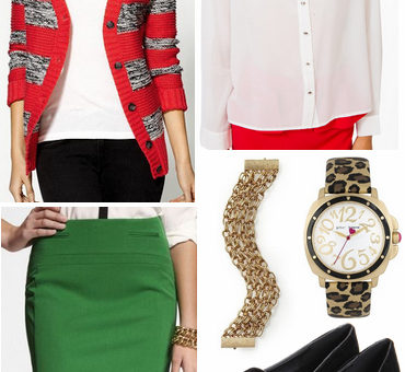 Red + green outfit 2