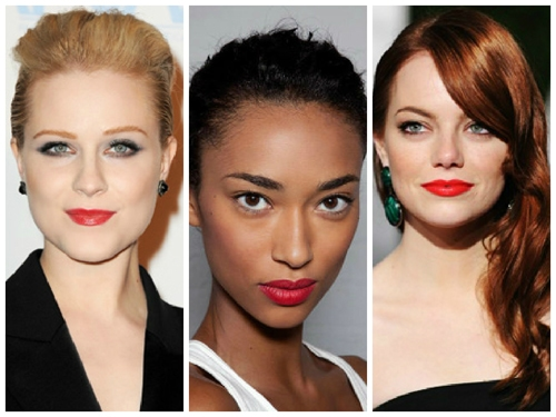 Red lips on celebs