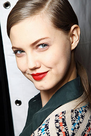Bold red lips seen at Marc by Marc Jacobs Fall 2012 RTW