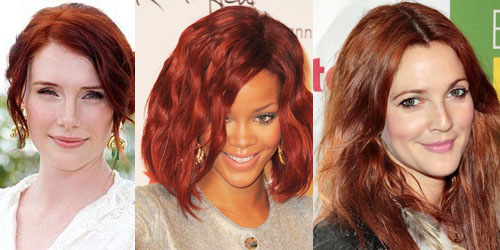 Red Hair on Bryce Dallas Howard, Rihanna, and Drew Barrymore
