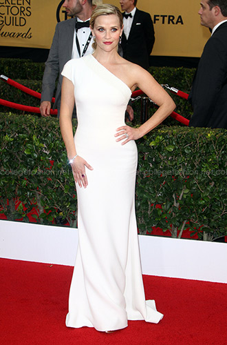 Reese Witherspoon in Custom Armani at the 2015 SAG Awards