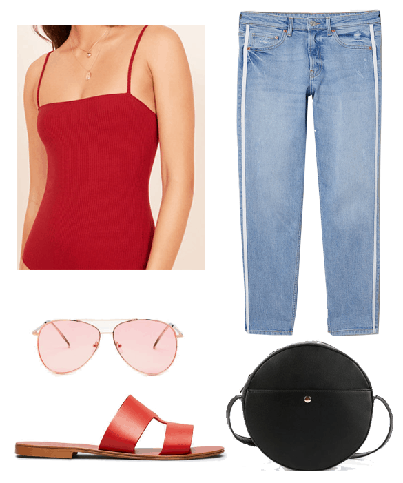 reformation bodysuit outfit