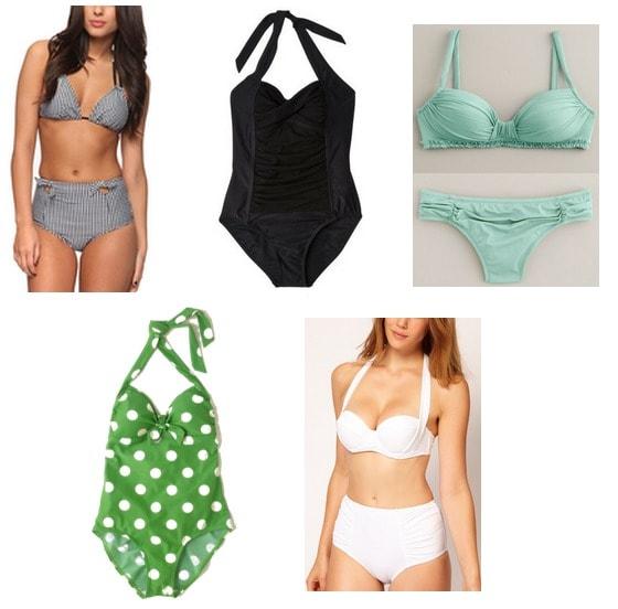 retro-inspired swimsuits summer 2012