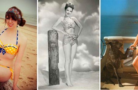 Retro Swimwear Collage