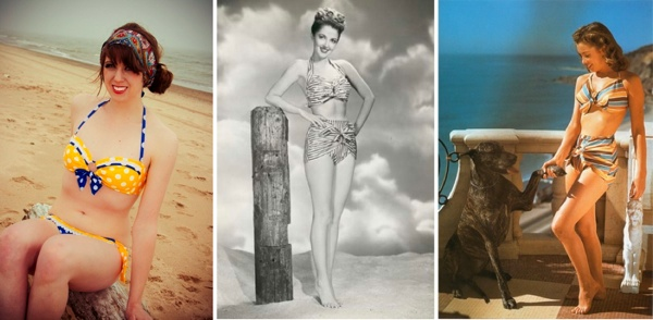 Retro Swimwear Collage