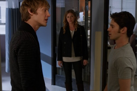 Revenge fashion: Emily's sweater and button up coat