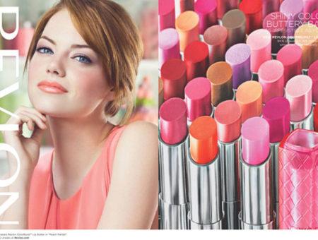 Revlon Colorburst Lip Butter ad featuring Emma Stone